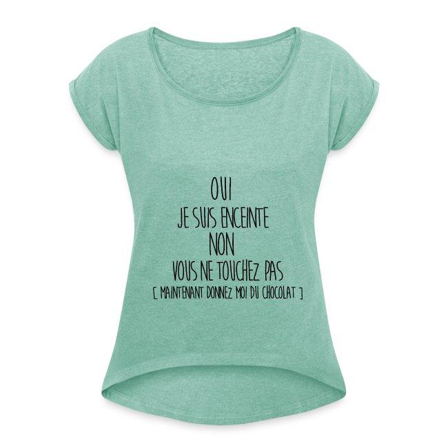 poupoussepitazi t shirt femme enceinte t shirt manches retrouss es femme. Black Bedroom Furniture Sets. Home Design Ideas