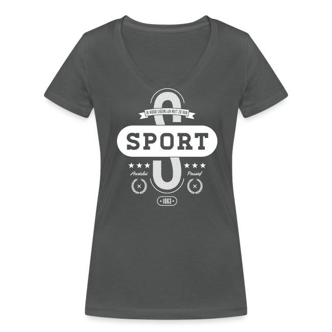 Sport vrouwen v-hals bio