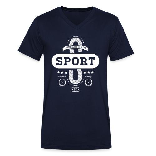 Sport mannen v-hals bio - Mannen bio T-shirt met V-hals van Stanley & Stella