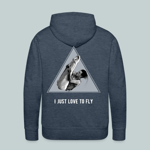 I just love to fly men trampolining hoodie - Men's Premium Hoodie
