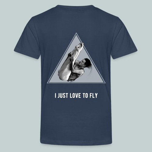 i just love to fly trampolining tshirt - Teenage Premium T-Shirt
