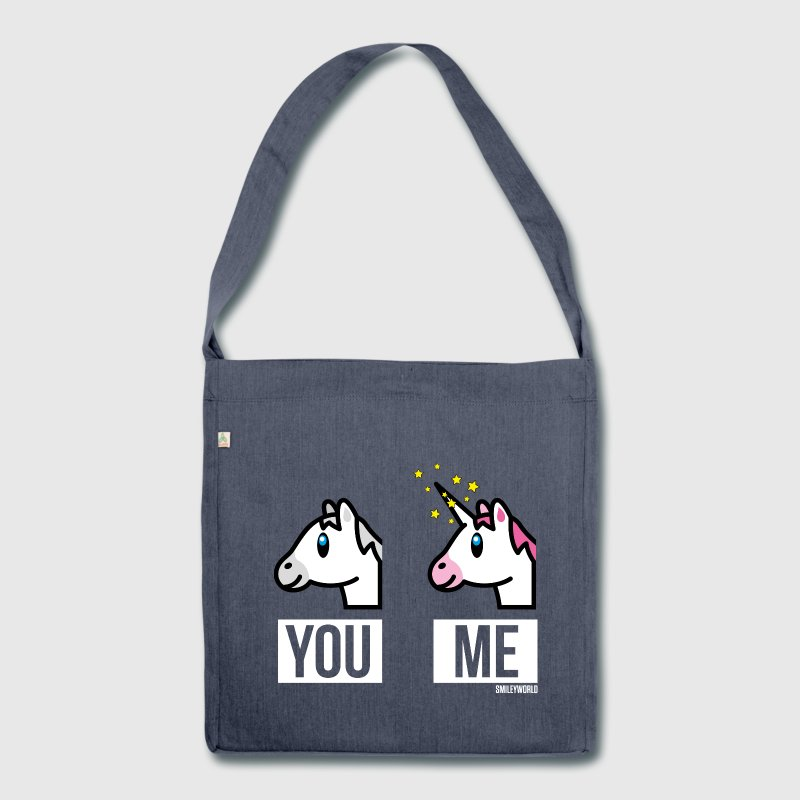 SmileyWorld You vs. Me - Schultertasche aus Recycling-Material