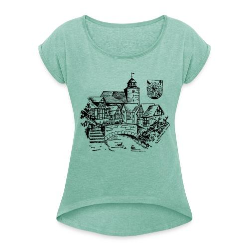 Damen T-Shirt mit gerollten Ärmeln Ronshausen historisch - Frauen T-Shirt mit gerollten Ärmeln