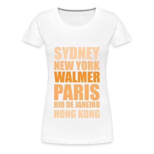 Going Places Shirt white (f) - Frauen Premium T-Shirt