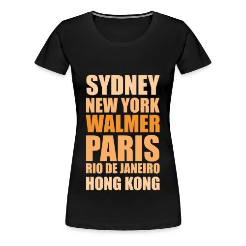 Going Places Shirt black (f) - Frauen Premium T-Shirt