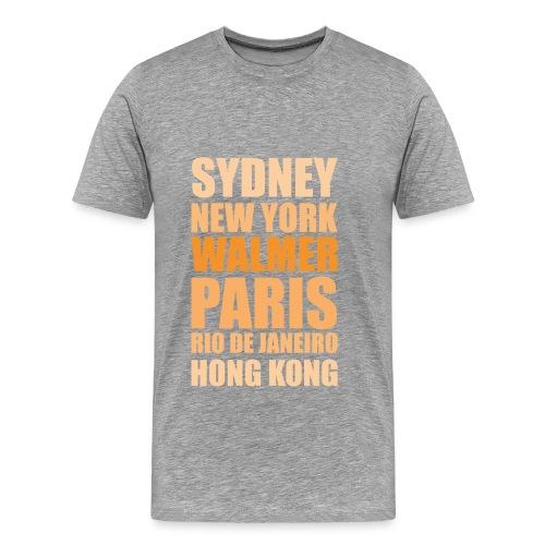 Going Places Shirt grey (m) - Männer Premium T-Shirt
