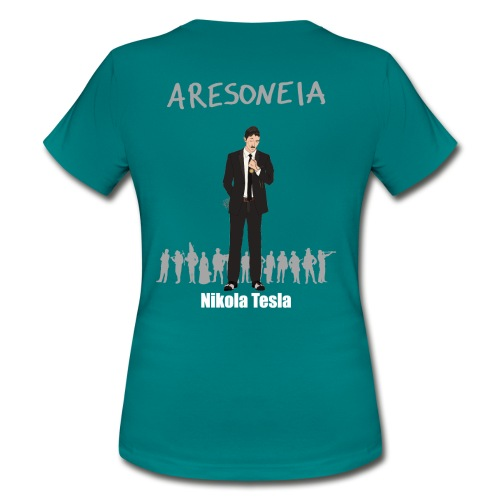 Aresoneia-Tesla (Weiß) - Damen-Shirt - Frauen T-Shirt