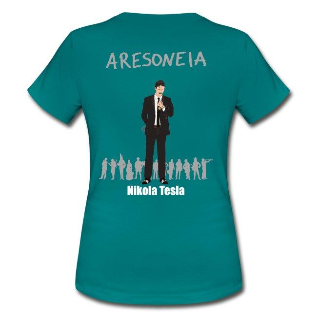 Aresoneia-Tesla (Weiß) - Damen-Shirt