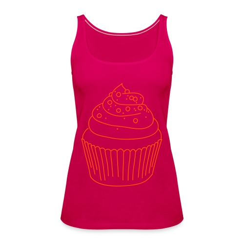 Cupcake (neon-orange) - Frauen Premium Tank Top