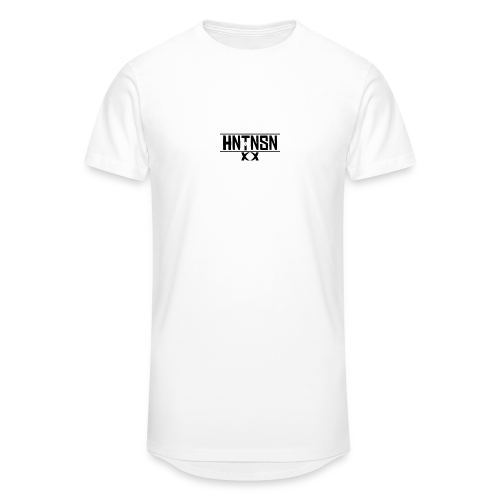Hantinson Logo LongLine tee (White) - Men's Long Body Urban Tee