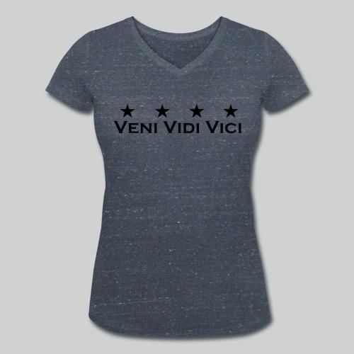 Veni Vidi Vici Stars Shirt Frauen - Frauen Bio-T-Shirt mit V-Ausschnitt von Stanley & Stella