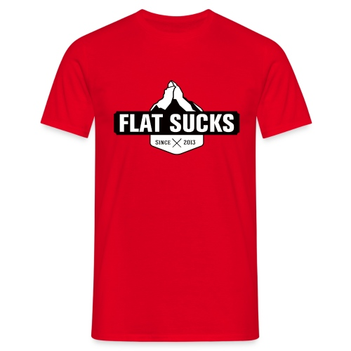 T-shirt Flat Sucks Rouge - T-shirt Homme