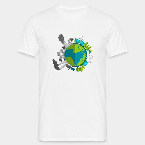 Planet Erde - Industrie vs Natur T-Shirts - Männer T-Shirt