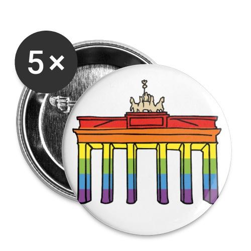 Rainbow Brandenburger Tor - Buttons klein 25 mm