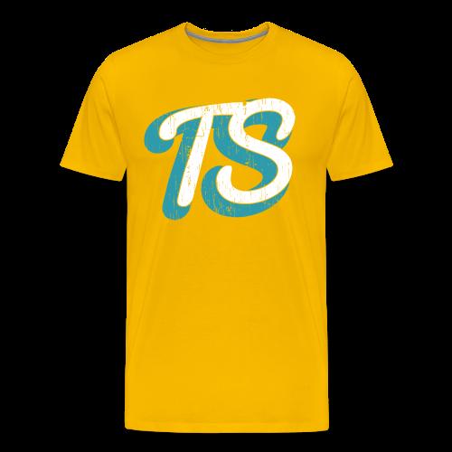 Heren Shirt Casual Geel - Mannen Premium T-shirt