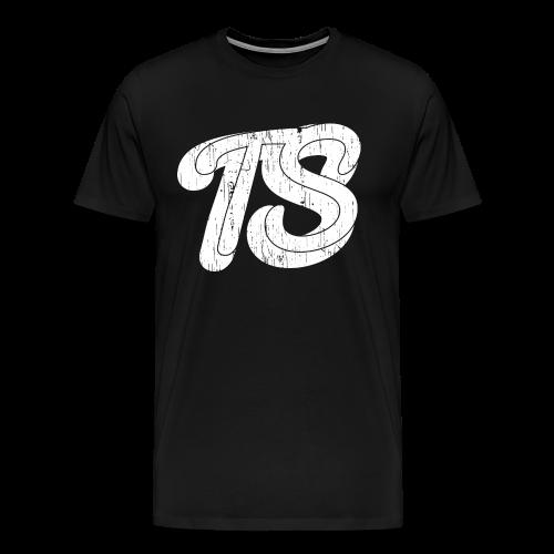 Heren Shirt Casual Zwart - Mannen Premium T-shirt