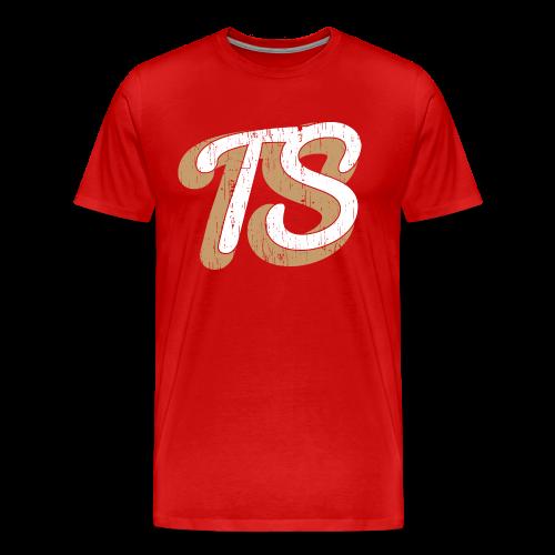 Heren Shirt Casual Rood - Mannen Premium T-shirt