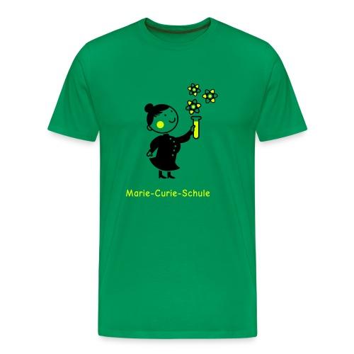 Männer Premium T-Shirt Marie-Curie-Schule (grün) - Männer Premium T-Shirt