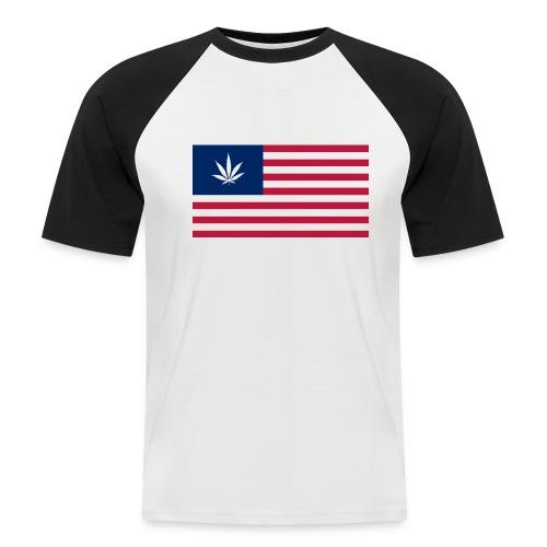 USA is Dope - Black - Männer Baseball-T-Shirt