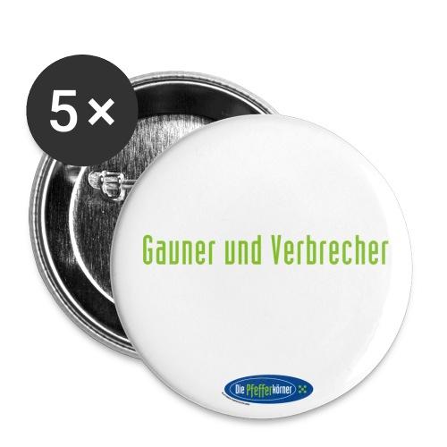 Die Pfefferkörner - Button 32mm Gauner und Verbrecher - Buttons mittel 32 mm