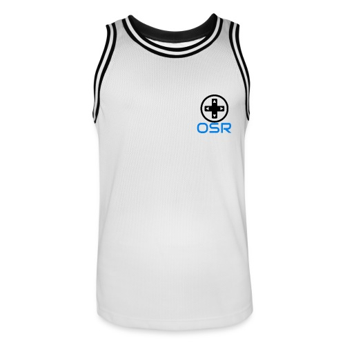 OSR Tanktop Weiß/Schwarz - Männer Basketball-Trikot