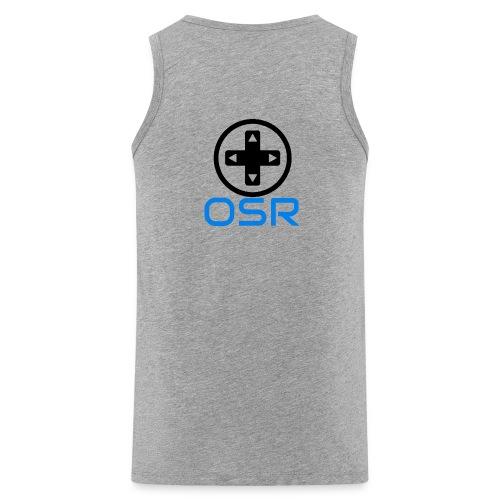 OSR Logo Tank Top Grau - Männer Premium Tank Top
