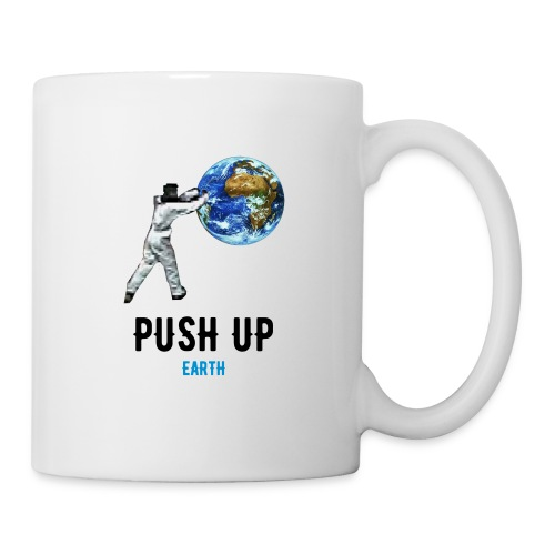 PUSH UP Earth Tasse blanche - Mug blanc