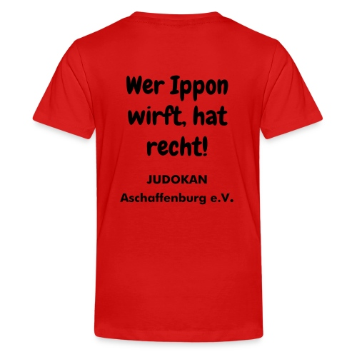 JUDOKAN Aschaffenburg Kinder T-Shirt - Teenager Premium T-Shirt