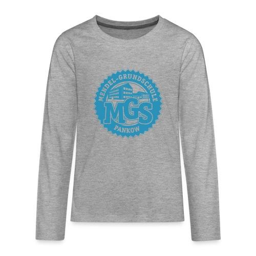 Mendelschule Highschool-Signet - Longshirt Kids, gerade - Teenager Premium Langarmshirt