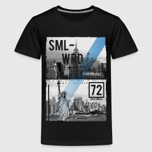 Smileyworld 'New York Statue of Liberty' - Teenage Premium T-Shirt