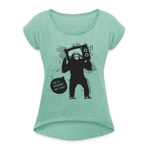 Monkey - Woman - T-shirt à manches retroussées Femme