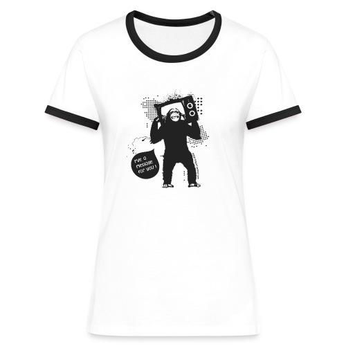 Monkey - Woman - T-shirt contrasté Femme