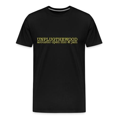 UnplugTheWood standard T light lettering, premium shirt - Men's Premium T-Shirt