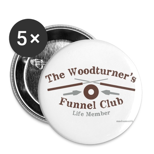 Funnel Club Badges. Pack of 5. - Buttons medium 32 mm