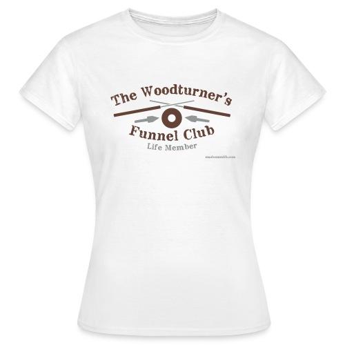 Ladies Funnel Club White T-Shirt - Women's T-Shirt