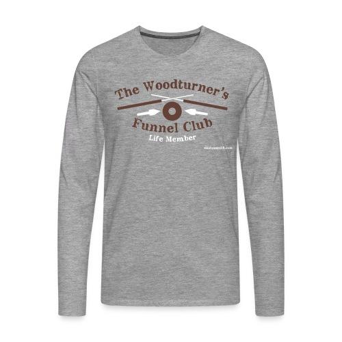 Funnel Club Grey Long Sleeve T. - Men's Premium Longsleeve Shirt