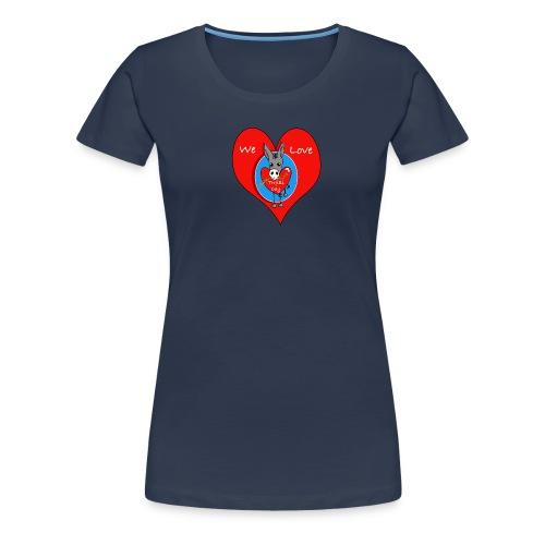 We Love Trifilli!_klein logo - Vrouwen Premium T-shirt