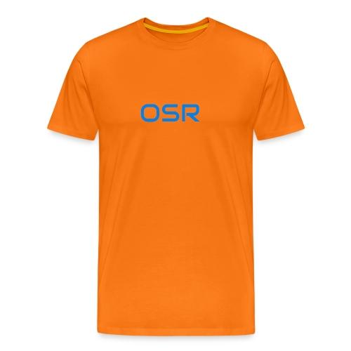 OSR Logo T-Shirt Orange - Männer Premium T-Shirt