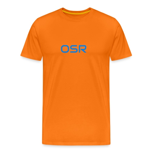 OSR Logo T-Shirt Orange - Männer Premium T-Shirt