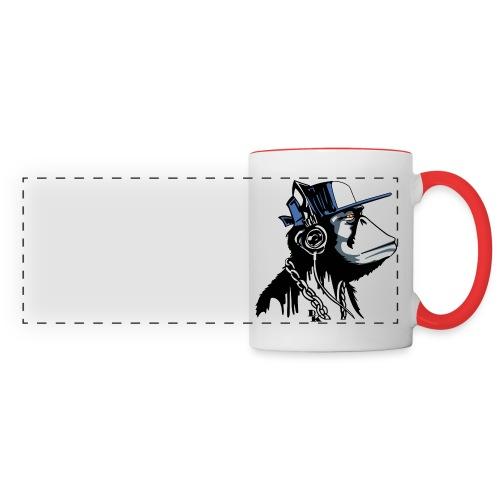 tasse avec logo singe (plusieurs couleur possible) - Mug panoramique contrasté et blanc