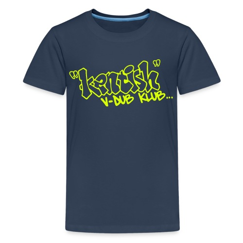 Premium Teen t-shirt with yellow logo - Teenage Premium T-Shirt