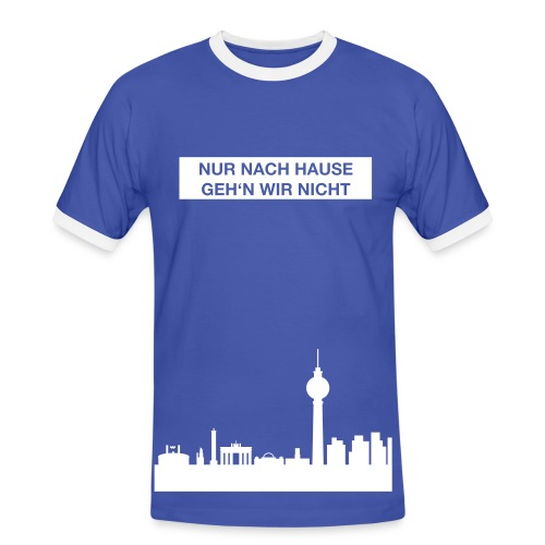 Nur nach Hause - Farbe änderbar - T-Shirt Herren  - Männer Kontrast-T-Shirt