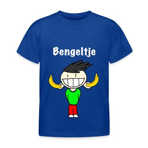 T-shirt korte mouwen Bengeltje bananen blauw - Kinderen T-shirt