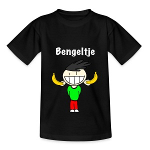 T-shirt korte mouwen Bengeltje bananen zwart - Kinderen T-shirt
