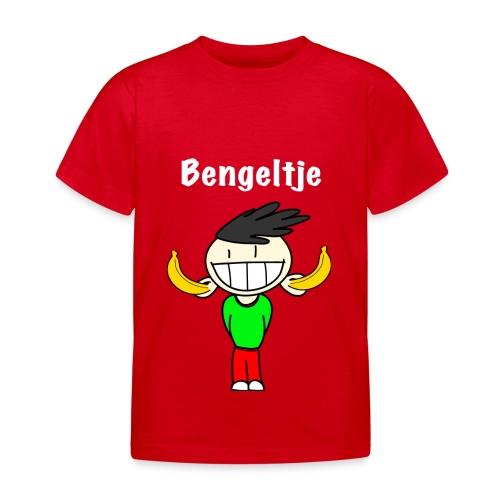 T-shirt korte mouwen Bengeltje bananen rood - Kinderen T-shirt