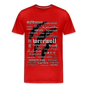 Werewolf in 33 Languages - Men's Premium T-Shirt - Koszulka męska Premium