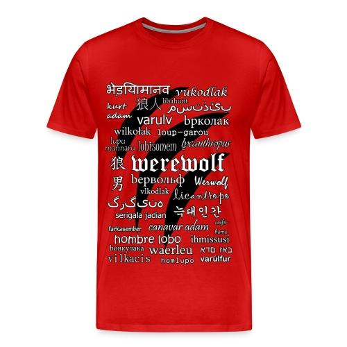 Werewolf in 33 Languages - Men's Premium T-Shirt - Koszulka męska Premium