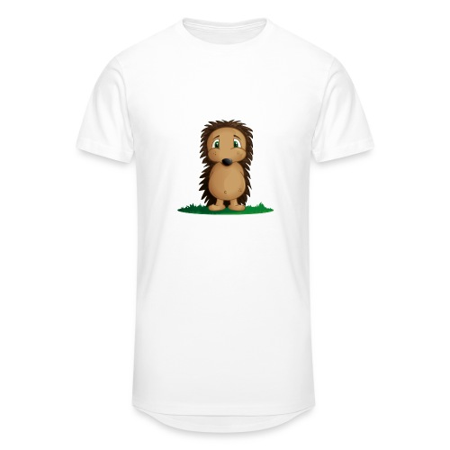T-Shirt Hérisson Blanc Homme - T-shirt long Homme