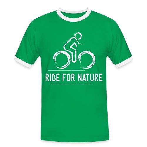 Ride for Nature - Männer Kontrast-T-Shirt