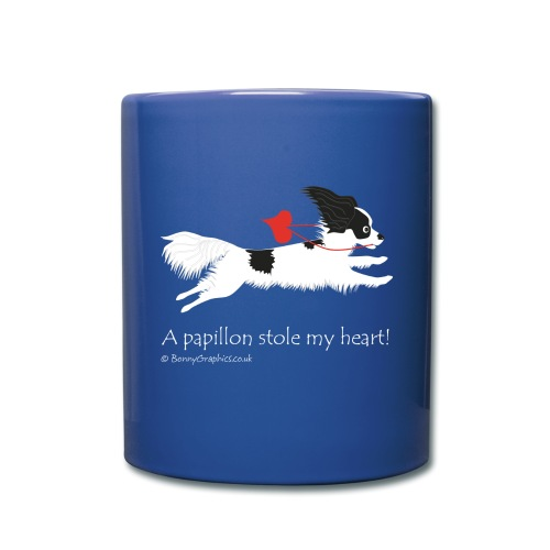 A papillon stole my heart! designed by Bonny Graphics - Full Colour Mug